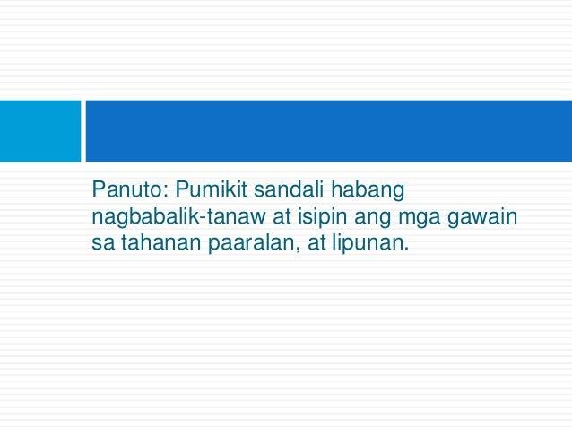 Panuto: Pumikit sandali habang nagbabalik-tanaw at isipin ang mga gawain sa tahanan paaralan, at lipunan.