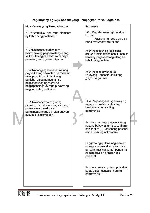 Edukasyon sa Pagpapakatao Grade 9 Teacher's Guide Slide 2