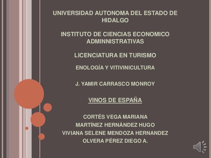 UNIVERSIDAD AUTONOMA DEL ESTADO DE HIDALGOINSTITUTO DE CIENCIAS ECONOMICO ADMINNISTRATIVASLICENCIATURA EN TURISMO<br />ENO...