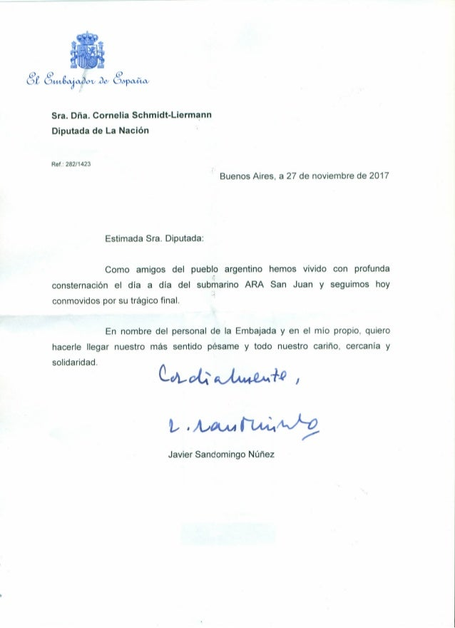Buenos Aires, a 27 de noviembre de 2017 GtG~~~G~ Sra. Dña. Cornelia Schmidt-Liermann Diputada de La Nación Ref.: 282/1423 ...