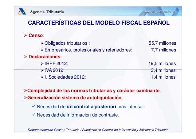 Presentaci n pa s espa a el modelo espa ol de for Oficina de gestion tributaria