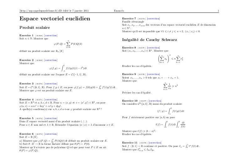 [http://mp.cpgedupuydelome.fr] dD édité le 7 janvier 2011                                Enoncés                          ...