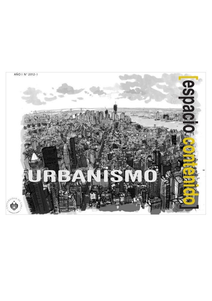 AÑO I N° 2012- I        URBANISMO   [espacio contenido]