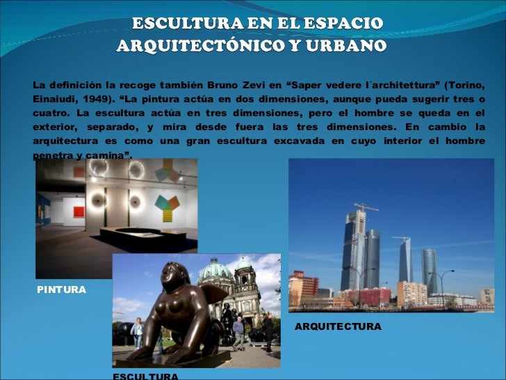 Espacio escultura cerramientos expo for Bruno zevi saper vedere l architettura