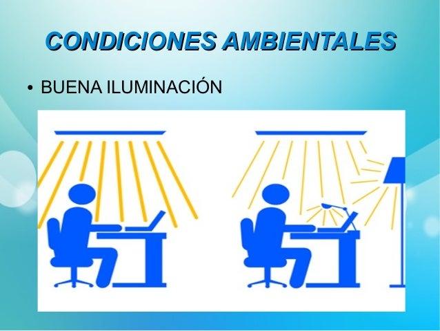 CCOONNDDIICCIIOONNEESS AAMMBBIIEENNTTAALLEESS  ● COLORES