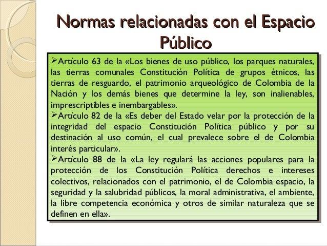 NORMA                                  ARTICULOS             Código Civil                 Arts. 674, 675, 677 y 1005      ...