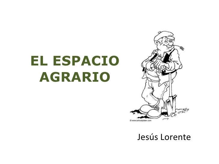 EL ESPACIO AGRARIO Jesús Lorente