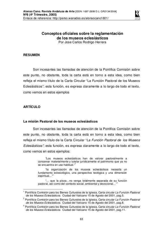 Alonso Cano. Revista Andaluza de Arte [ISSN: 1697-2899 D.L: GR2134/2004] Nº8 (4º Trimestre, 2005) Enlace de referencia: ht...