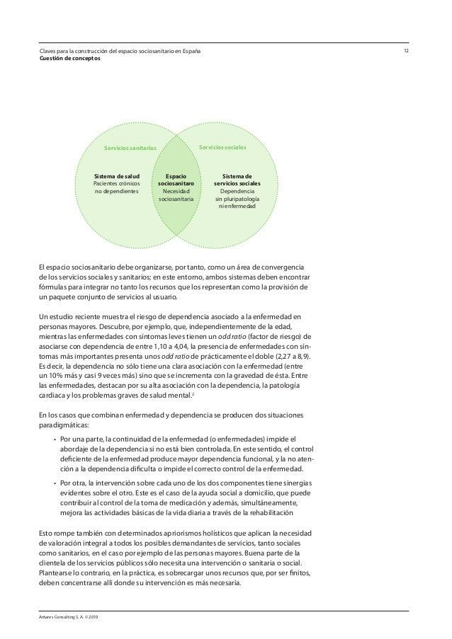 Antares Consulting S. A. © 2010 12 El espacio sociosanitario debe organizarse, por tanto, como un área de convergencia de ...