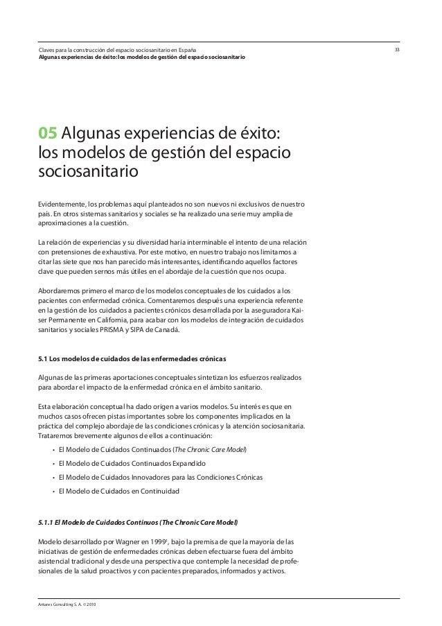Antares Consulting S. A. © 2010 33Claves para la construcción del espacio sociosanitario en España Algunas experiencias de...