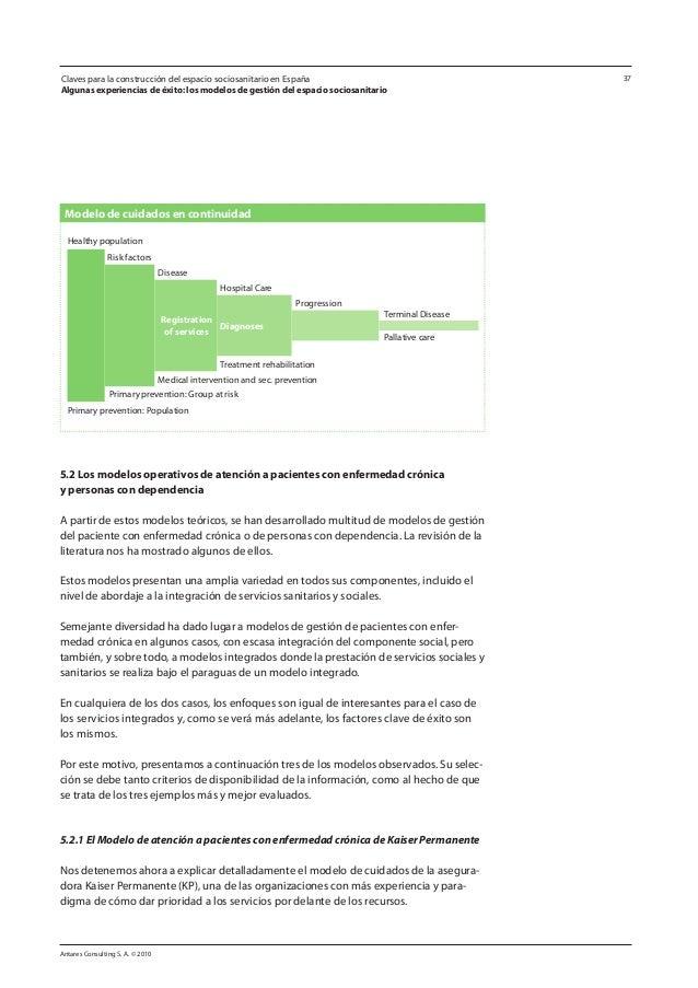 Antares Consulting S. A. © 2010 37 5.2 Los modelos operativos de atención a pacientes con enfermedad crónica y personas co...