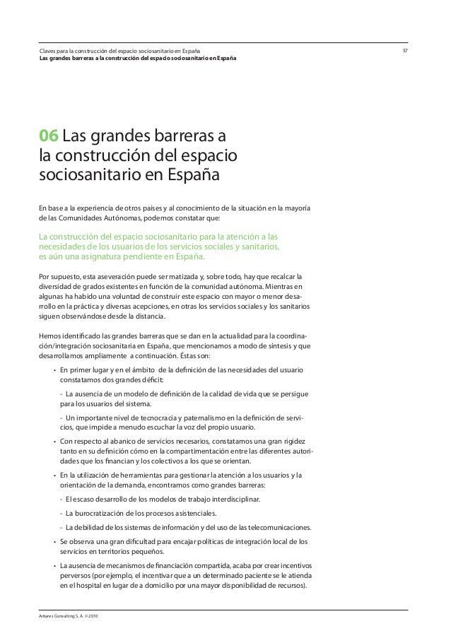 Claves para la construcción del espacio sociosanitario en España. Informe completo