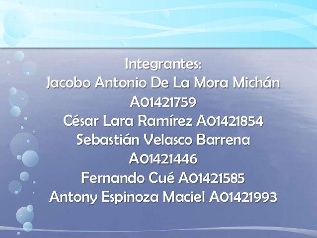 Integrantes: Jacobo Antonio De La Mora Michán A01421759 César Lara Ramírez A01421854 Sebastián Velasco Barrena A01421446 F...