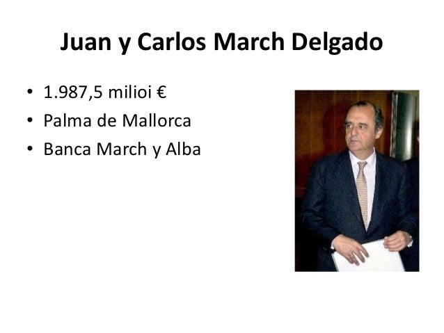 Espainiaren burtsako 25 pertsona aberatsenak for Oficinas banca march palma
