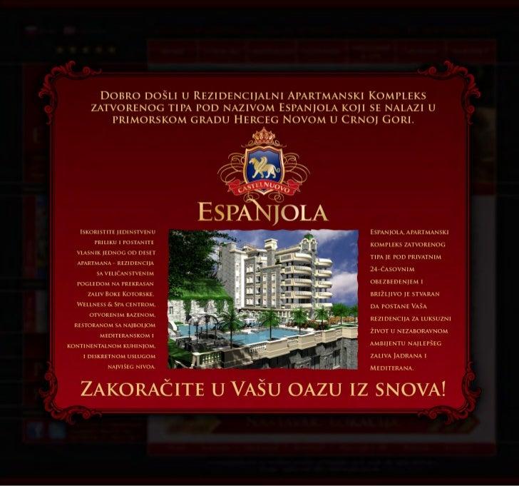 Espanjola web site dizajn