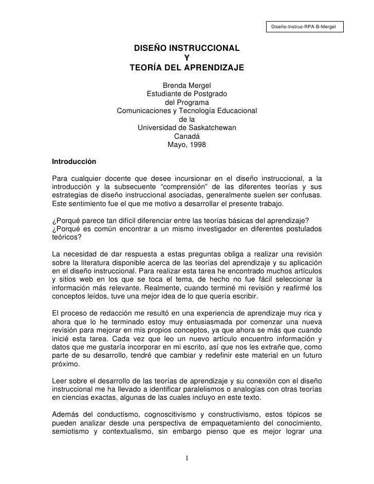 Diseño-Instruc-RPA-B-Mergel                         DISEÑO INSTRUCCIONAL                                   Y              ...