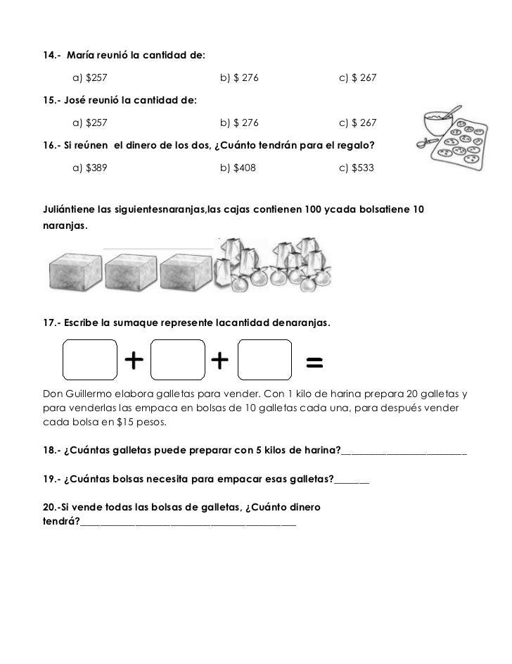 Examen de diagnostico primaria 3 - Preguntas examen manipulador de alimentos ...