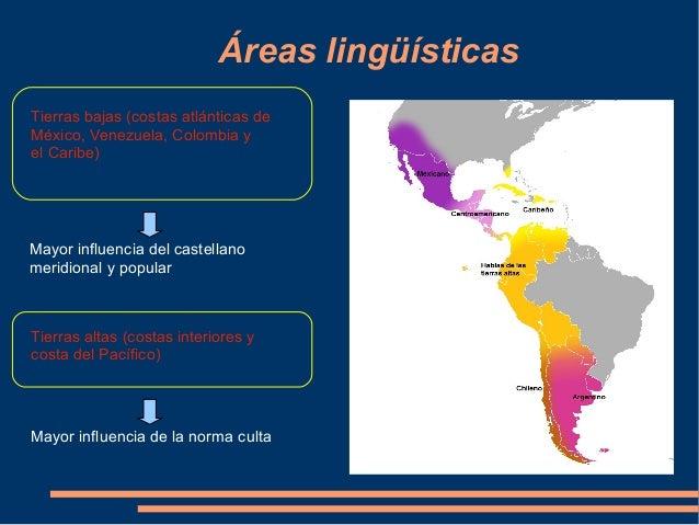 Resultat d'imatges de areas lingüísticas del español en américa