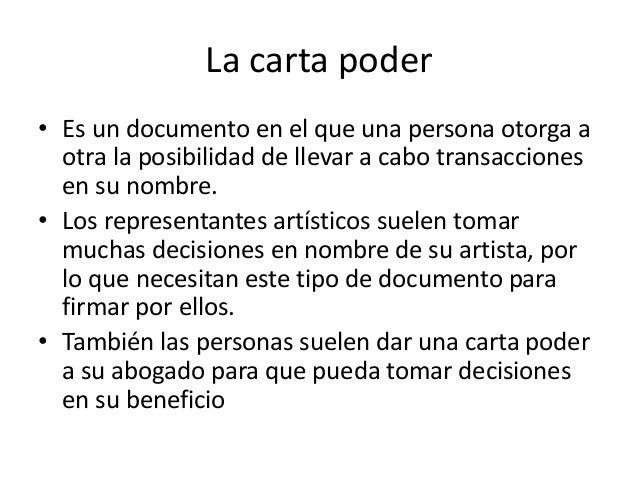 Carta Podeer Y Documentos Legales