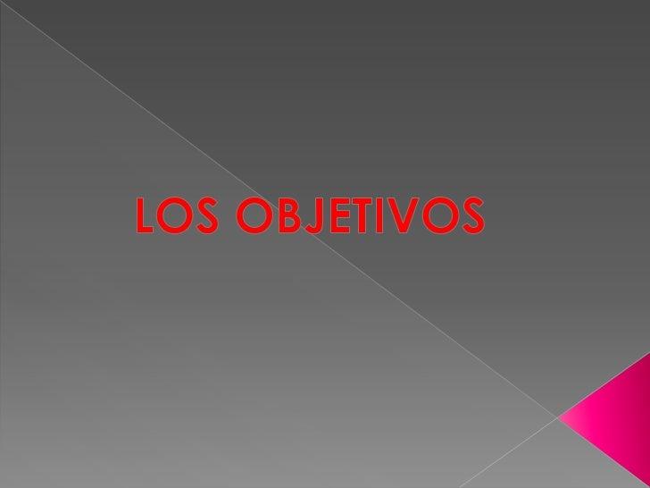 LOS OBJETIVOS<br />