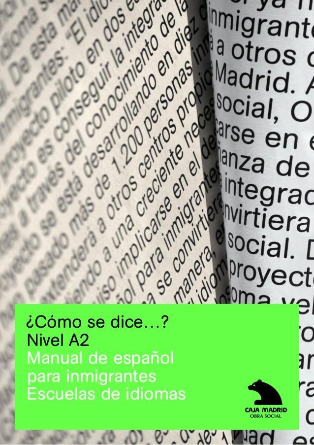 Español para extranjeros A2
