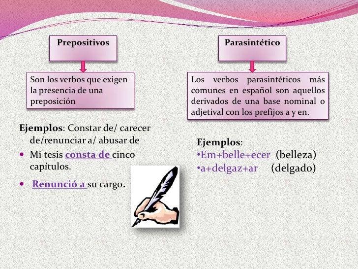 Clasificación del verbo