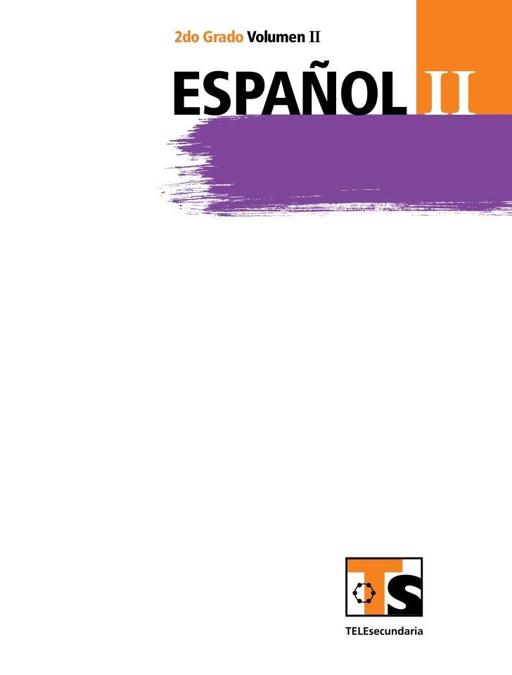 2do Grado Volumen IIespañol II