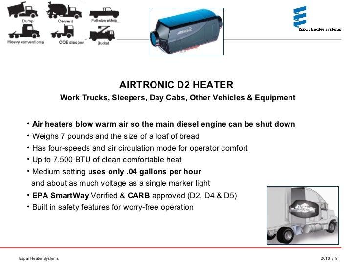 Espar Heaters Idle Reduction Technology