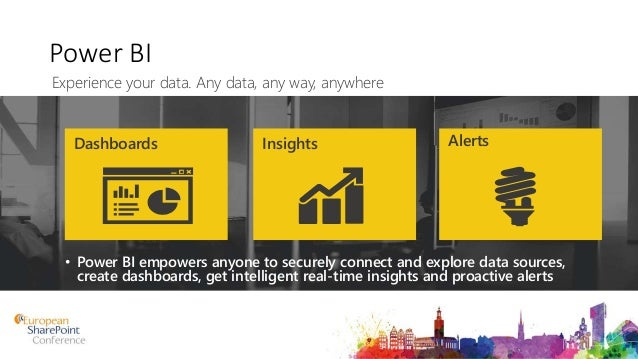 Power BI • Power BI empowers anyone to securely connect and explore data sources, create dashboards, get intelligent real-...