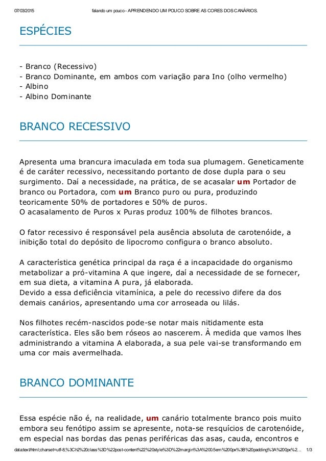 07/03/2015 falandoumpoucoAPRENDENDOUMPOUCOSOBREASCORESDOSCANÁRIOS. data:text/html;charset=utf8,%3Ch2%20class%...