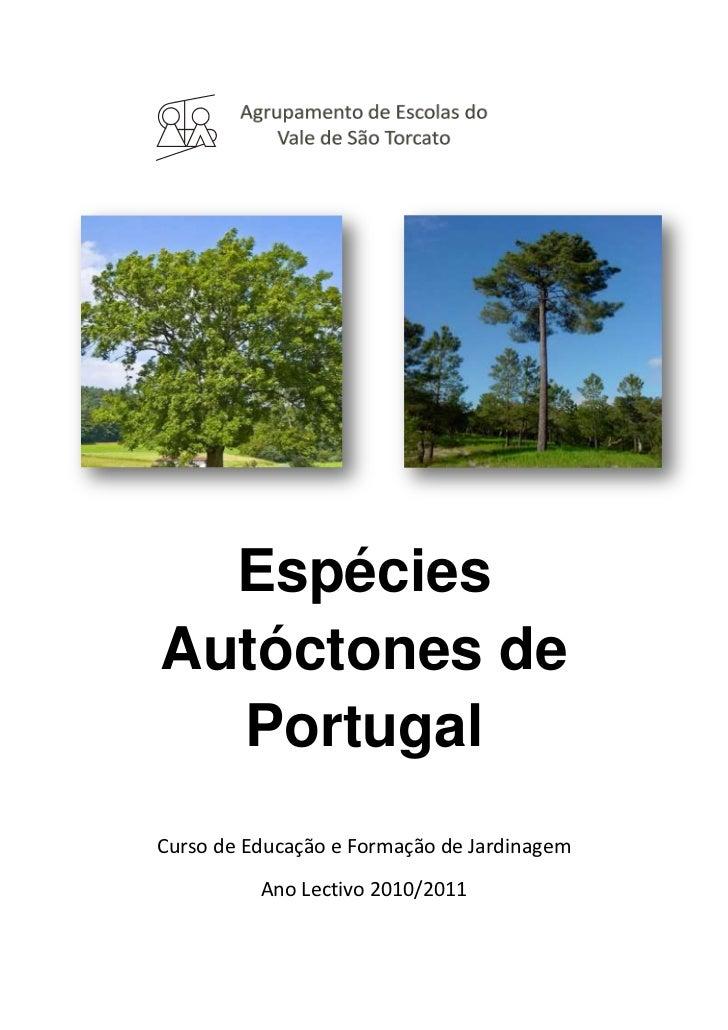 Agrupamento de Escolas do Vale de São Torcato <br />-2436664026723117050402672<br />Espécies Autóctones de Portugal<br />C...