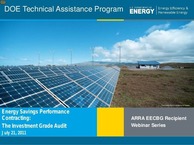 1 | DOE Technical Assistance Program eere.energy.gov The Parker Ranch installation in Hawaii DOE Technical Assistance Prog...