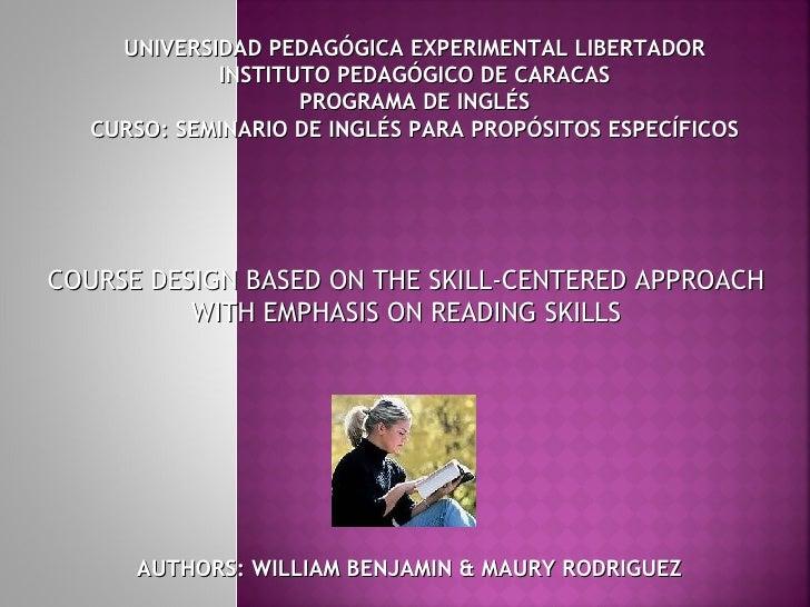 UNIVERSIDAD PEDAGÓGICA EXPERIMENTAL LIBERTADOR            INSTITUTO PEDAGÓGICO DE CARACAS                   PROGRAMA DE IN...