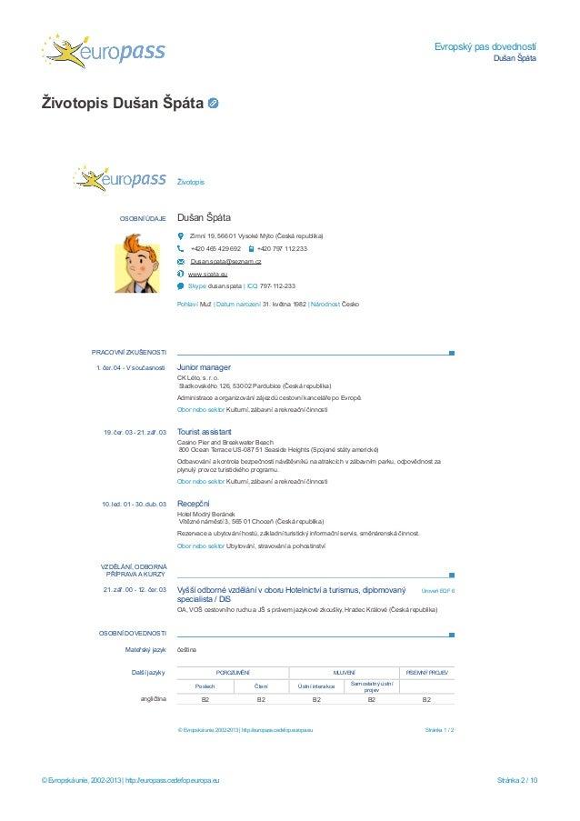 Evropsky Pas Dovednosti Dusan Spata