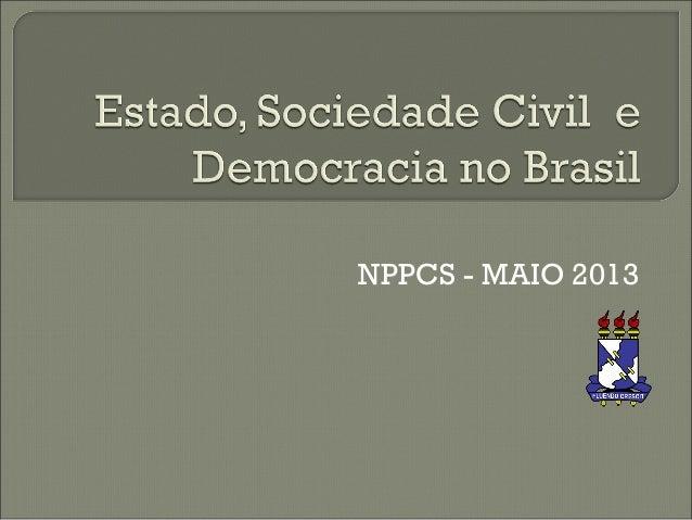 NPPCS - MAIO 2013