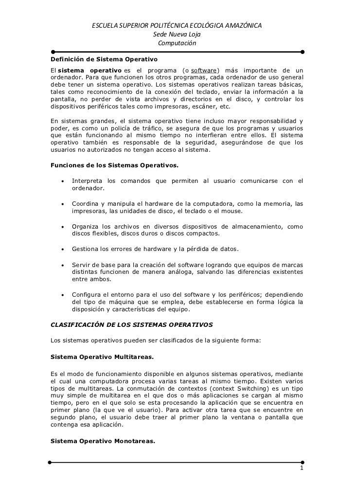 ESCUELA SUPERIOR POLITÉCNICA ECOLÓGICA AMAZÓNICA                               Sede Nueva Loja                            ...