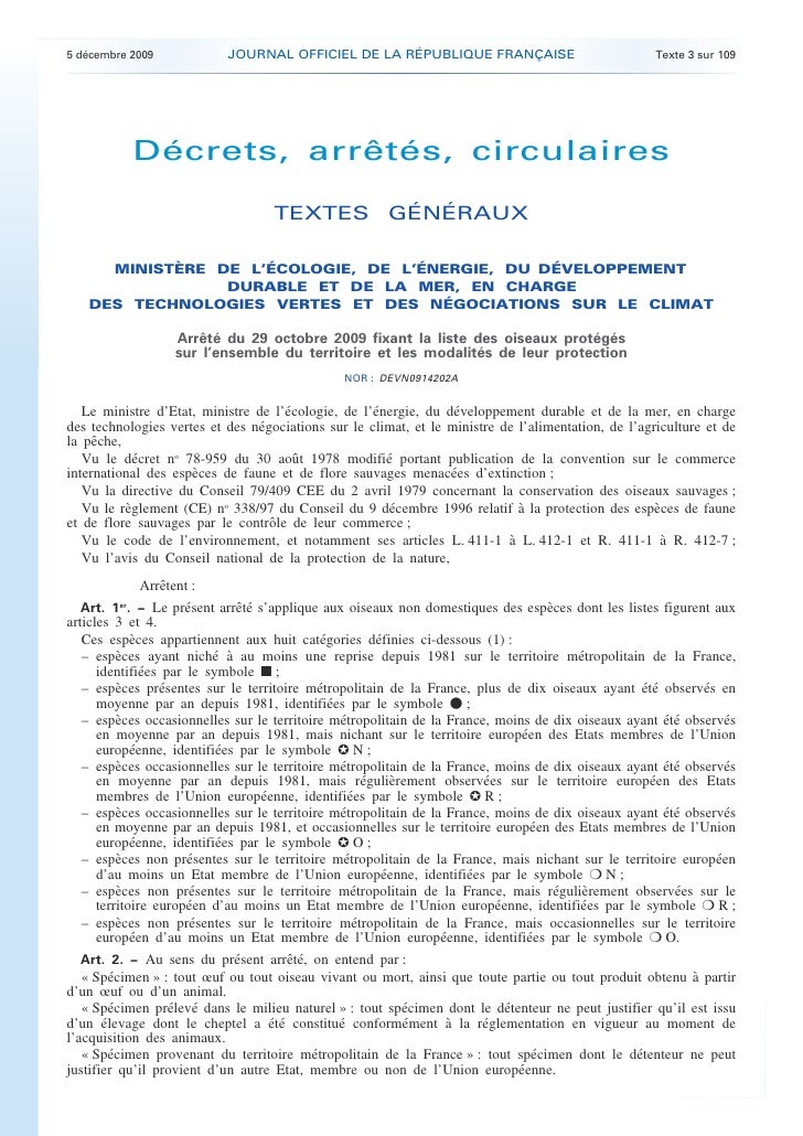 5 décembre 2009            JOURNAL OFFICIEL DE LA RÉPUBLIQUE FRANÇAISE                               Texte 3 sur 109      ...