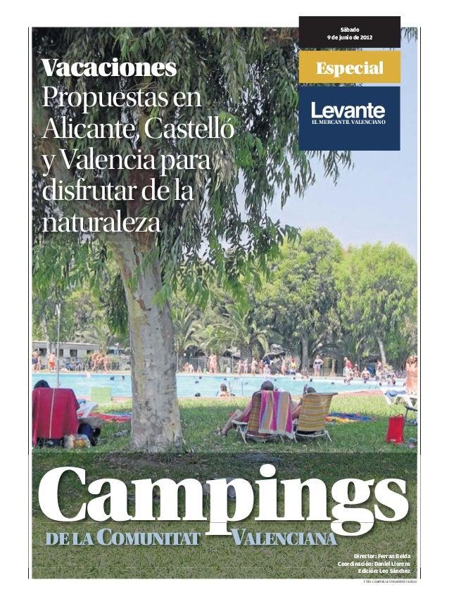 Sábado                             9 de junio de 2012Vacaciones                EspecialPropuestas enAlicante, Castelló    ...