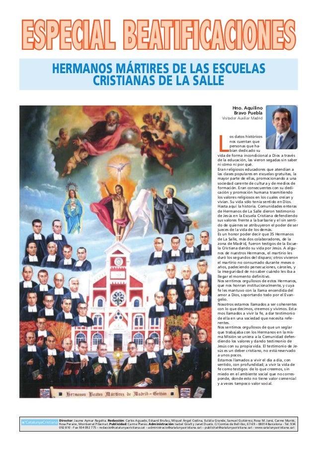 Especial beatificaciones Director: Jaume Aymar Ragolta. Redacción: Carlos Aguado, Eduard Brufau, Miquel Àngel Codina, Eulà...