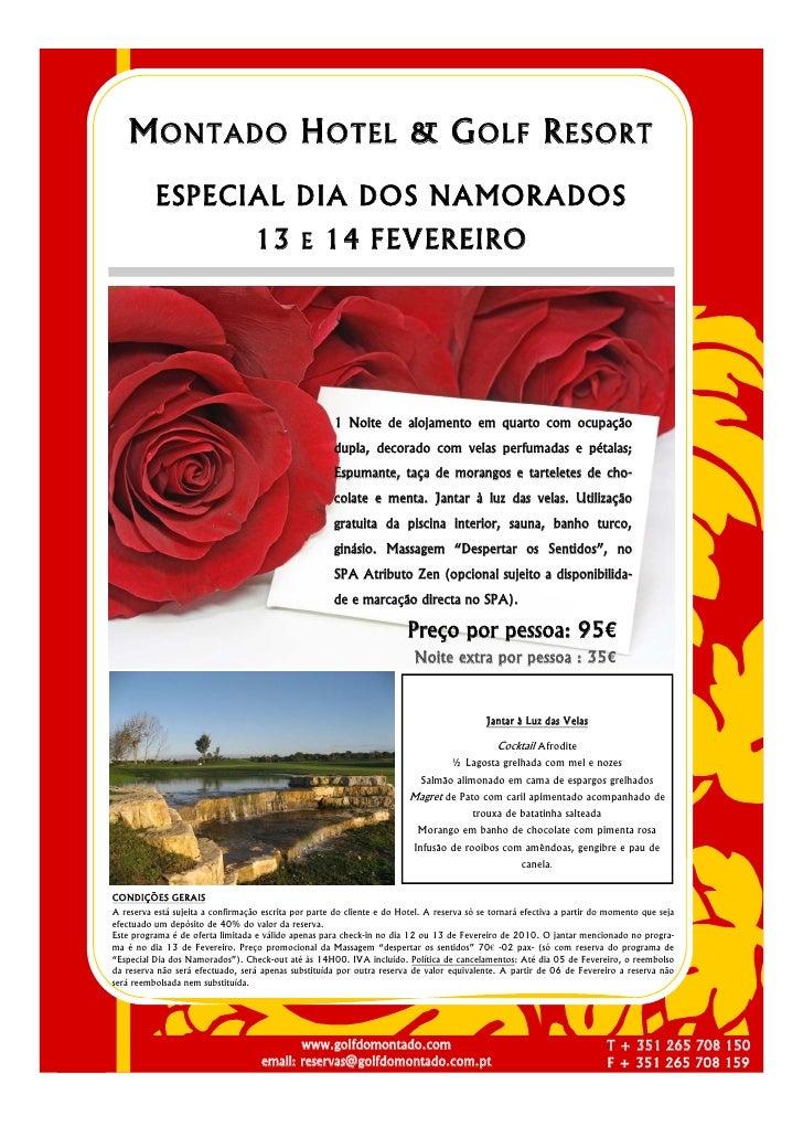 M ONTADO H OTEL & G OLF R ESORT           ESPECIAL DIA DOS NAMORADOS                                    13 E 14 FEVEREIRO ...