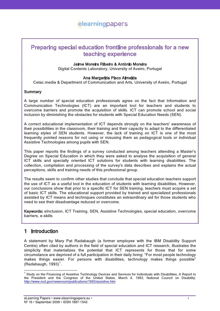 CHECK THESE SAMPLES OF Assistive Technology Research Proposal