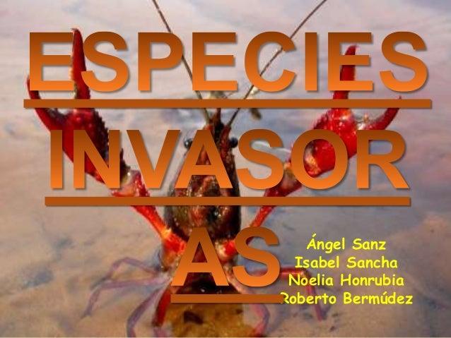 ESPECIESINVASORASÁngel SanzIsabel SanchaNoelia HonrubiaRoberto Bermúdez