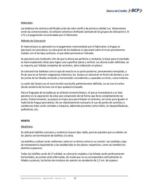 Especificaciones tecnicas arquitectura - Dimensiones baldosas ...