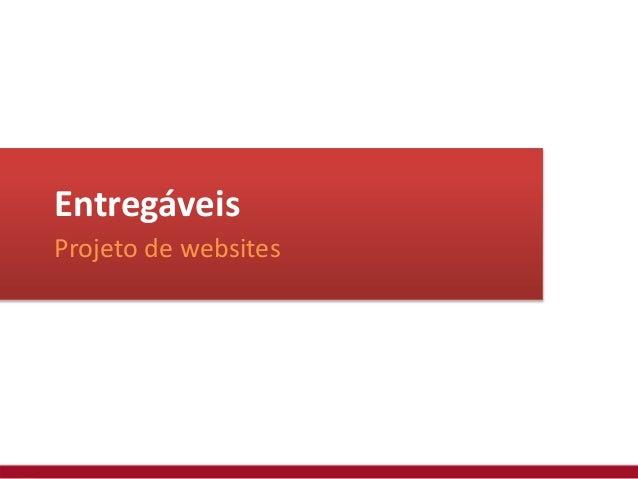 Entregáveis Projeto de websites