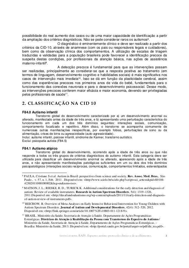 Espectro Autista- Protocolo Clinico de Acolhimento