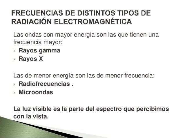 El espectro electromagnético es empleado de acuerdo a la frecuencia de la onda electromagnética emitida. Las ondas de radi...