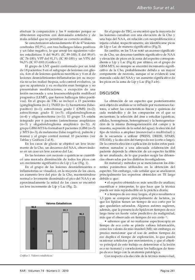 Alberto Surur et al.  efectuar la comparación y los 9 restantes porque se obtuvieron espectros con demasiado artefacto y d...