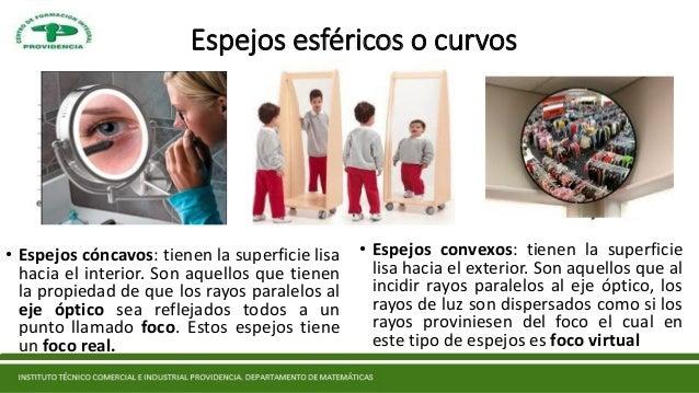 Espejos f sica for Espejos esfericos convexos