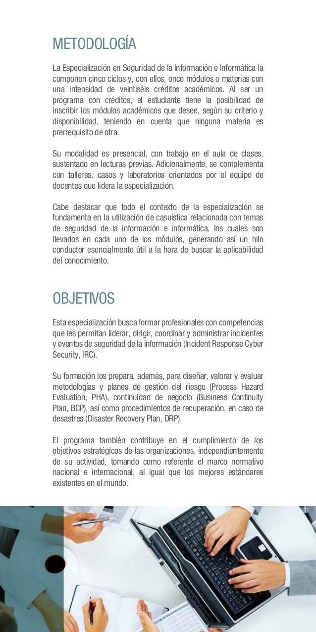 Especialización en Seguridad de la Información en Informática