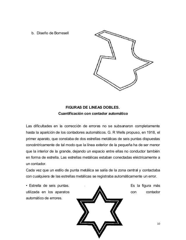 b. Diseño de Borresell FIGURAS DE LINEAS DOBLES. Cuantificación con contador automático Las dificultades en la corrección ...